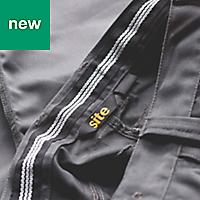 "Site Jackal Grey/Black Men's Trousers, W34"" L30"""