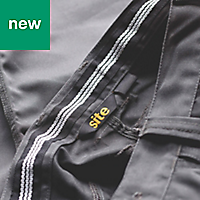 "Site Jackal Grey/Black Men's Trousers, W34"" L34"""