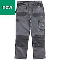 "Site Jackal Grey/Black Men's Trousers, W40"" L30"""