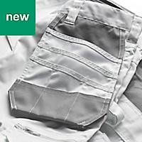 "Site Jackal White/Grey Men's Trousers, W36"" L32"""