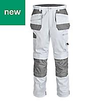 "Site Jackal White/Grey Men's Trousers, W40"" L32"""