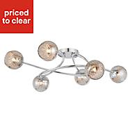 Roset Chrome effect 6 Lamp Ceiling light