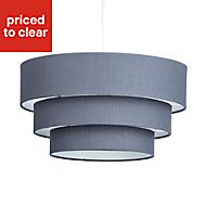 Colours Kase Grey Plain Light shade (D)400mm