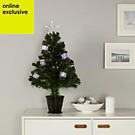 2ft 6in Present Fibre optic christmas tree
