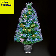 3ft Colour changing potted Fibre optic christmas tree