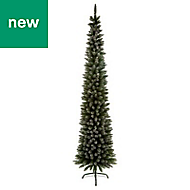 6ft 6in Pencil Pine Artificial Christmas tree