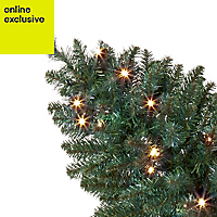 3ft Wall mounted Pre-lit artificial Christmas tree