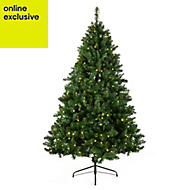 6ft 10in Oregon Pine Pre-lit artificial Christmas tree