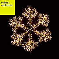Warm white LED Snowflake burst Silhouette