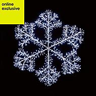 White LED Snowflake burst Silhouette
