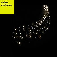 200 Warm white LED Waterfall Net light