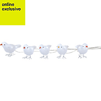 White LED Birds Silhouette