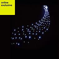 200 White LED Waterfall Net light