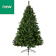 6ft Pine Tree Pre-lit artificial Christmas tree