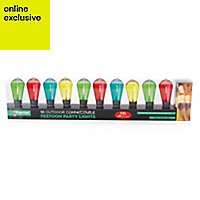 10 Multicolour LED Bulb connectable String lights