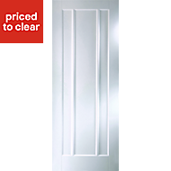 Vertical 3 Panel Primed White Smooth Internal Door, (H)1981mm (W)838mm