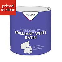 Valspar Pure brilliant white Satin Metal & wood paint, 2.5L