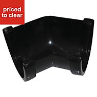FloPlast Hi-Cap 135 ° Gutter angle (Dia)115mm, Black