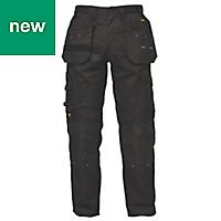 "DeWalt Pro Tradesman Black Men's Trousers, W32"" L29"""