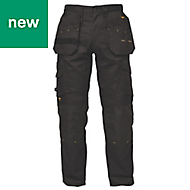 "DeWalt Pro Tradesman Black Men's Trousers, W34"" L29"""