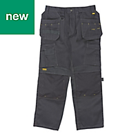 "DeWalt Pro Tradesman Black Men's Trousers, W42"" L29"""