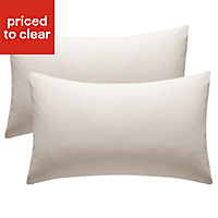 Chartwell Plain Housewife Cream Pillow case, Pack of 2