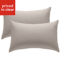 Chartwell Plain Housewife Natural Pillow case, Pack of 2