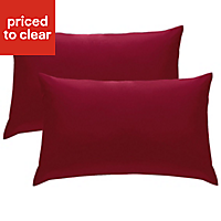 Chartwell Plain Housewife Claret Pillow case, Pack of 2
