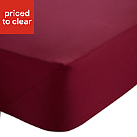 Chartwell Claret Double Fitted sheet