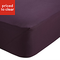 Chartwell Plum Single Fitted sheet