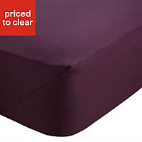Chartwell Plum Double Fitted sheet