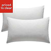 Chartwell Plain Housewife White Pillow case, Pack of 2