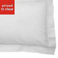Chartwell Plain Oxford White Pillow case, Pack of 2