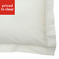 Chartwell Plain Cream Pillow case, Pack of 2
