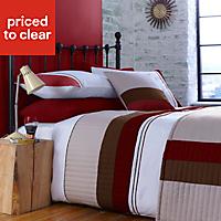 Chartwell Boston Striped Red Single Bedding set