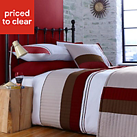 Chartwell Boston Striped Red Double Bedding set