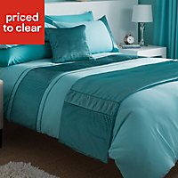 Chartwell Como Striped Turquoise King Bedding set
