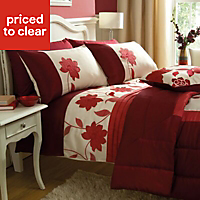 Chartwell Annabel Floral Red Double Bedding set