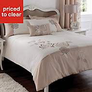 Chartwell Rosa Floral Pink & white King size Bed cover set
