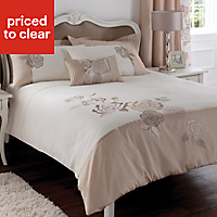 Chartwell Rosa Floral Pink & white King Bedding set