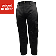 "Stanley Phoenix Black Trousers, W34"" L33"""