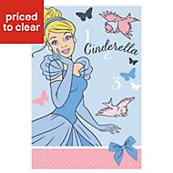 Disney Multicolour Princess Cinderella Fleece Throw