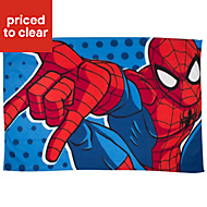 Ultimate Spiderman Blue & red Webhead Fleece Throw