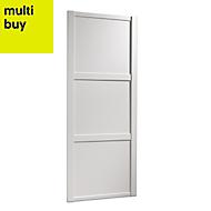 Shaker White Panel effect Sliding wardrobe door (H)2220 mm (W)610mm