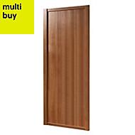 Shaker Natural Walnut effect Sliding wardrobe door (H)2220 mm (W)914mm