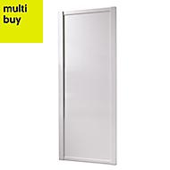 Shaker White Panel effect Sliding wardrobe door (H)2220 mm (W)914mm