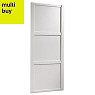 Shaker White Panel effect Sliding wardrobe door (H)2220 mm (W)762mm