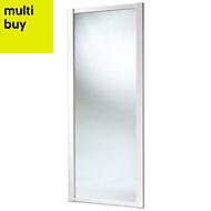 Shaker Mirrored White Sliding wardrobe door (H)2220 mm (W)914mm