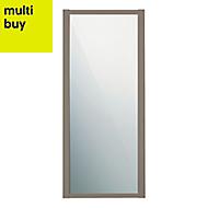 Shaker Stone grey Mirror Sliding wardrobe door (W)914mm