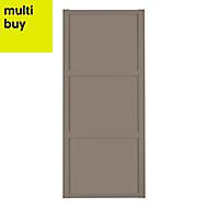 Shaker Stone grey Sliding wardrobe door (W)762mm